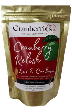Cranberry relish with lime and cardamom