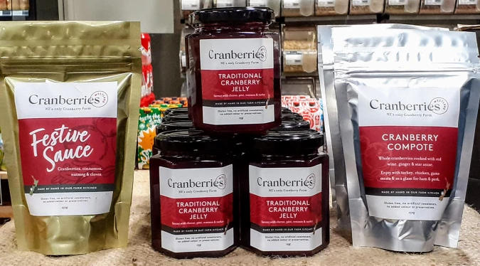 Cranberry product display